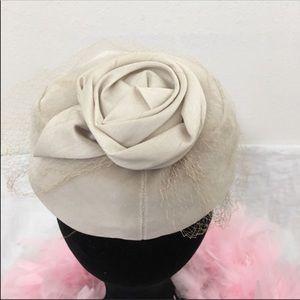 Vintage Wool pillbox tulle netting Arlington Hat